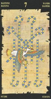 Ý nghĩa lá 7 of Wands trong bộ bài Egyptian Tarot