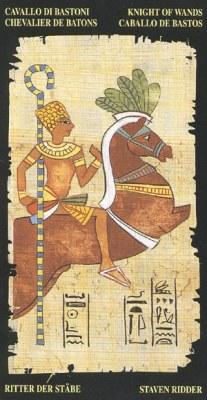 Ý nghĩa lá Knight of Wands trong bộ bài Egyptian Tarot