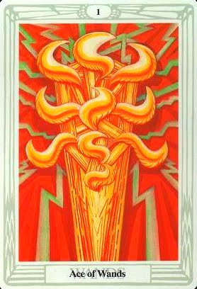 Lá Ace of Wands – Aleister Crowley Thoth Tarot