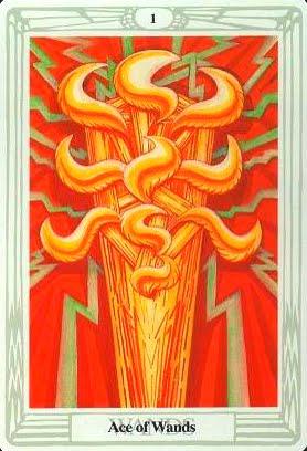 Ý nghĩa lá Ace of Wands trong bộ bài Aleister Crowley Thoth Tarot