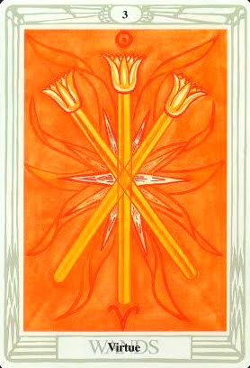 Lá Three of Wands – Aleister Crowley Thoth Tarot