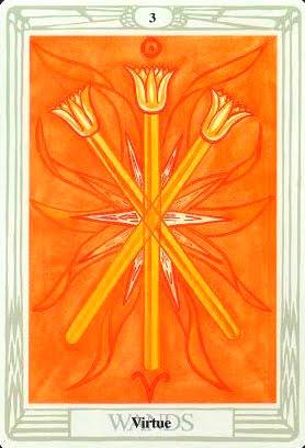 Ý nghĩa lá Three of Wands trong bộ bài Aleister Crowley Thoth Tarot