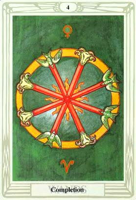 Lá Four of Wands – Aleister Crowley Thoth Tarot