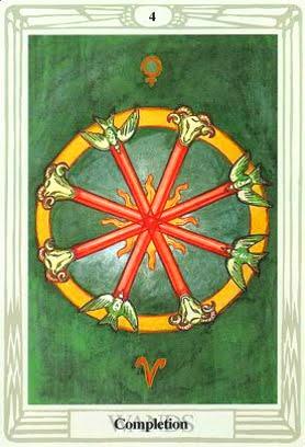 Ý nghĩa lá Four of Wands trong bộ bài Aleister Crowley Thoth Tarot