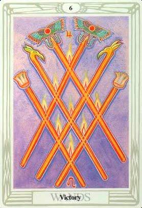 Ý nghĩa lá Six of Wands trong bộ bài Aleister Crowley Thoth Tarot