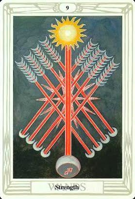 Lá Nine of Wands – Aleister Crowley Thoth Tarot