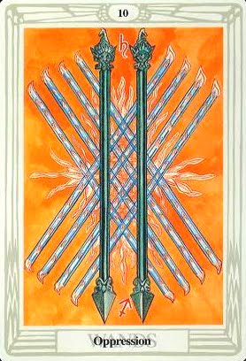 Lá Ten of Wands – Aleister Crowley Thoth Tarot