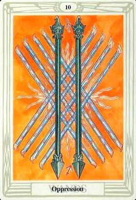 Ý nghĩa lá Ten of Wands trong bộ bài Aleister Crowley Thoth Tarot