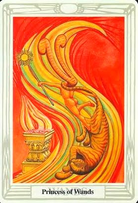 Lá Princess of Wands – Aleister Crowley Thoth Tarot
