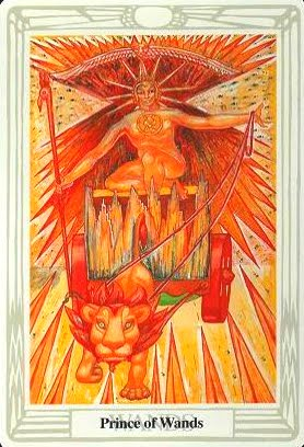 Lá Prince of Wands – Aleister Crowley Thoth Tarot