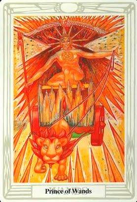 Ý nghĩa lá Prince of Wands trong bộ bài Aleister Crowley Thoth Tarot