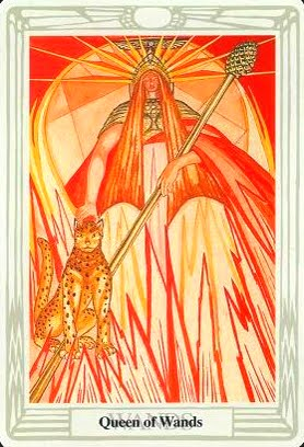 Lá Queen of Wands – Aleister Crowley Thoth Tarot