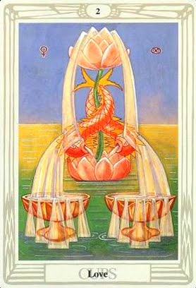 Lá Two of Cups – Aleister Crowley Thoth Tarot