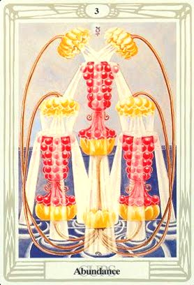 Lá Three of Cups – Aleister Crowley Thoth Tarot