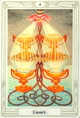 Lá Four of Cups – Aleister Crowley Thoth Tarot