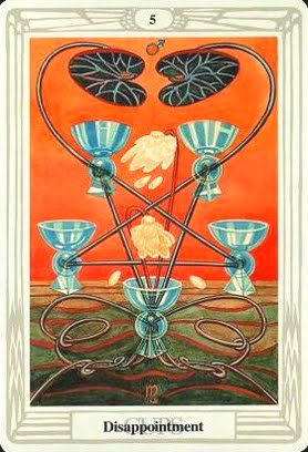 Lá Five of Cups – Aleister Crowley Thoth Tarot