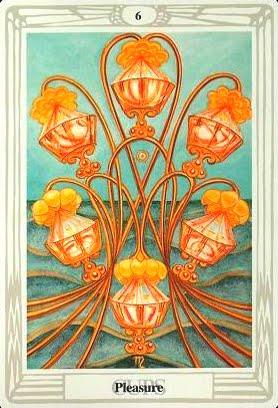Ý nghĩa lá Six of Cups trong bộ bài Aleister Crowley Thoth Tarot