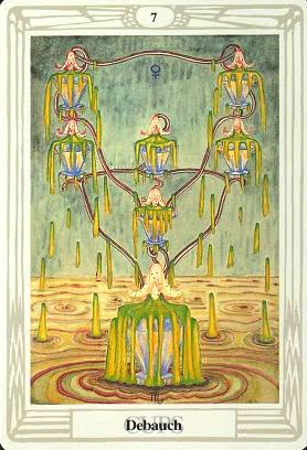 Lá Seven of Cups – Aleister Crowley Thoth Tarot