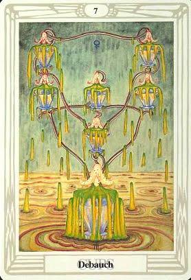 Ý nghĩa lá Seven of Cups trong bộ bài Aleister Crowley Thoth Tarot