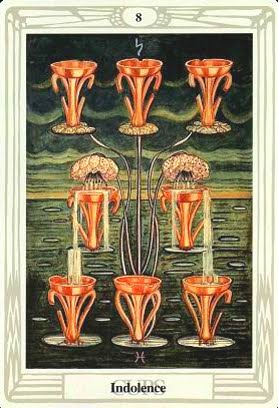 Ý nghĩa lá Eight of Cups trong bộ bài Aleister Crowley Thoth Tarot