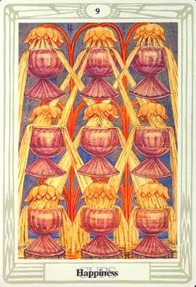 Lá Nine of Cups – Aleister Crowley Thoth Tarot