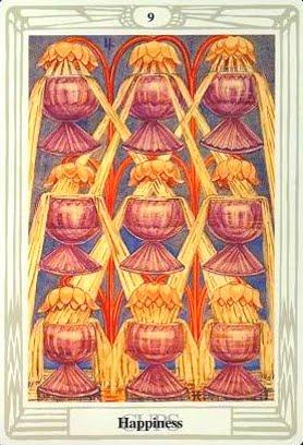 Ý nghĩ lá Nine of Cups trong bộ bài Aleister Crowley Thoth Tarot