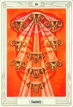 Ý nghĩa lá Ten of Cups trong bộ bài Aleister Crowley Thoth Tarot