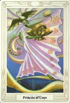 Lá Princess of Cups – Aleister Crowley Thoth Tarot