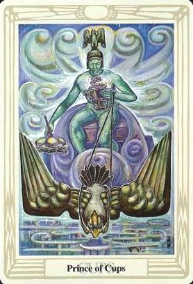 Lá Prince of Cups – Aleister Crowley Thoth Tarot