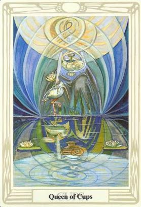 Lá Queen of Cups – Aleister Crowley Thoth Tarot