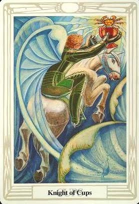 Lá Knight of Cups – Aleister Crowley Thoth Tarot