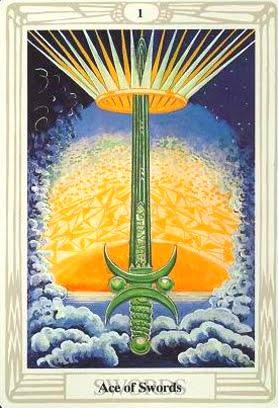 Ý nghĩa lá Ace of Swords trong bộ bài Aleister Crowley Thoth Tarot