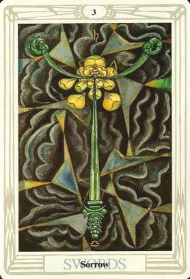 Lá Three of Swords – Aleister Crowley Thoth Tarot