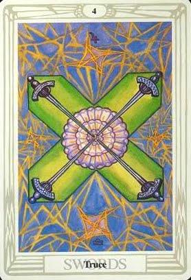 Ý nghĩa lá Four of Swords trong bộ bài Aleister Crowley Thoth Tarot