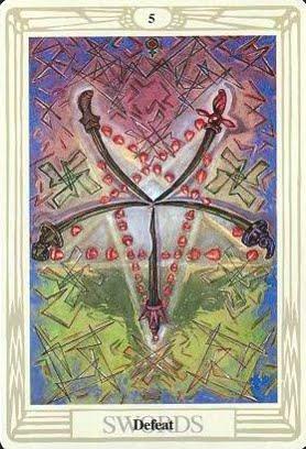 Ý nghĩa lá Five of Swords trong bộ bài Aleister Crowley Thoth Tarot