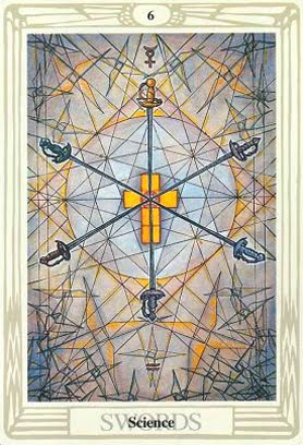 Lá Six of Swords – Aleister Crowley Thoth Tarot