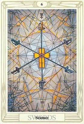 Ý nghĩa lá Six of Swords trong bộ bài Aleister Crowley Thoth Tarot