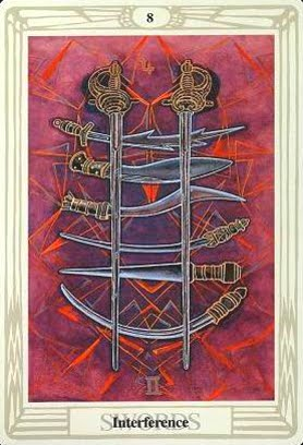 Lá Eight of Swords – Aleister Crowley Thoth Tarot