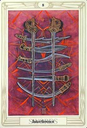 Ý nghĩa lá Eight of Swords trong bộ bài Aleister Crowley Thoth Tarot