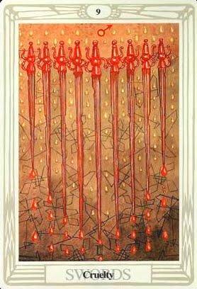 Ý nghĩa lá 9 of Swords trong bộ bài Aleister Crowley Thoth Tarot