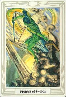 Ý nghĩa lá Princess of Swords trong bộ bài Aleister Crowley Thoth Tarot
