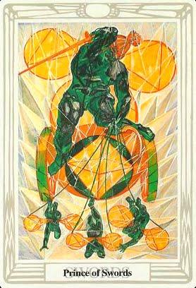 Ý nghĩa lá Prince of Swords trong bộ bài Aleister Crowley Thoth Tarot
