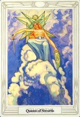 Ý nghĩa lá Queen of Swords trong bộ bài Aleister Crowley Thoth Tarot
