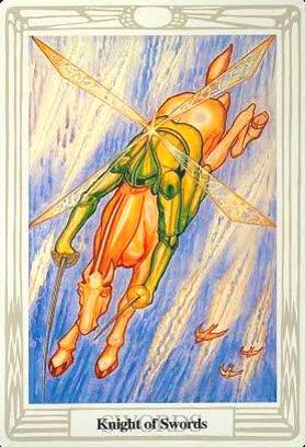 Ý nghĩa lá Knight of Swords trong bộ bài Aleister Crowley Thoth Tarot