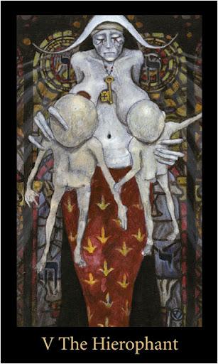 ý nghĩa lá The Hierophant trong bộ bài Mary-el Tarot