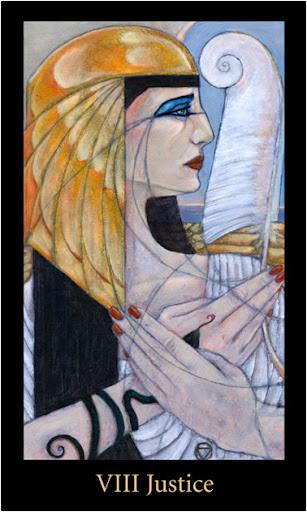 ý nghĩa lá Justice trong bộ bài Mary-el Tarot