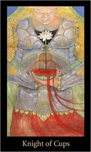 ý nghĩa lá Knight of Cups trong bộ bài Mary-el Tarot