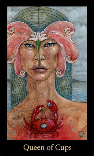 ý nghĩa lá Queen of Cups trong bộ bài Mary-el Tarot