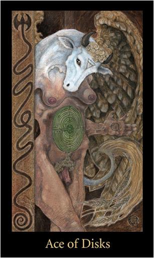 Lá Ace of Disks – Bộ Bài Mary-el Tarot