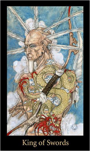 Ý nghĩa lá King of Swords trong bộ bài Mary-el Tarot